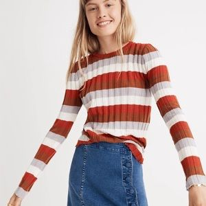 Madewell Clarkwell Pullover Sweater in Stripe